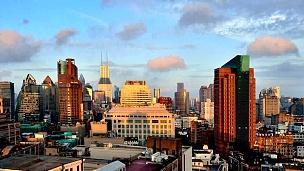 早晨的上海城市景观,中国