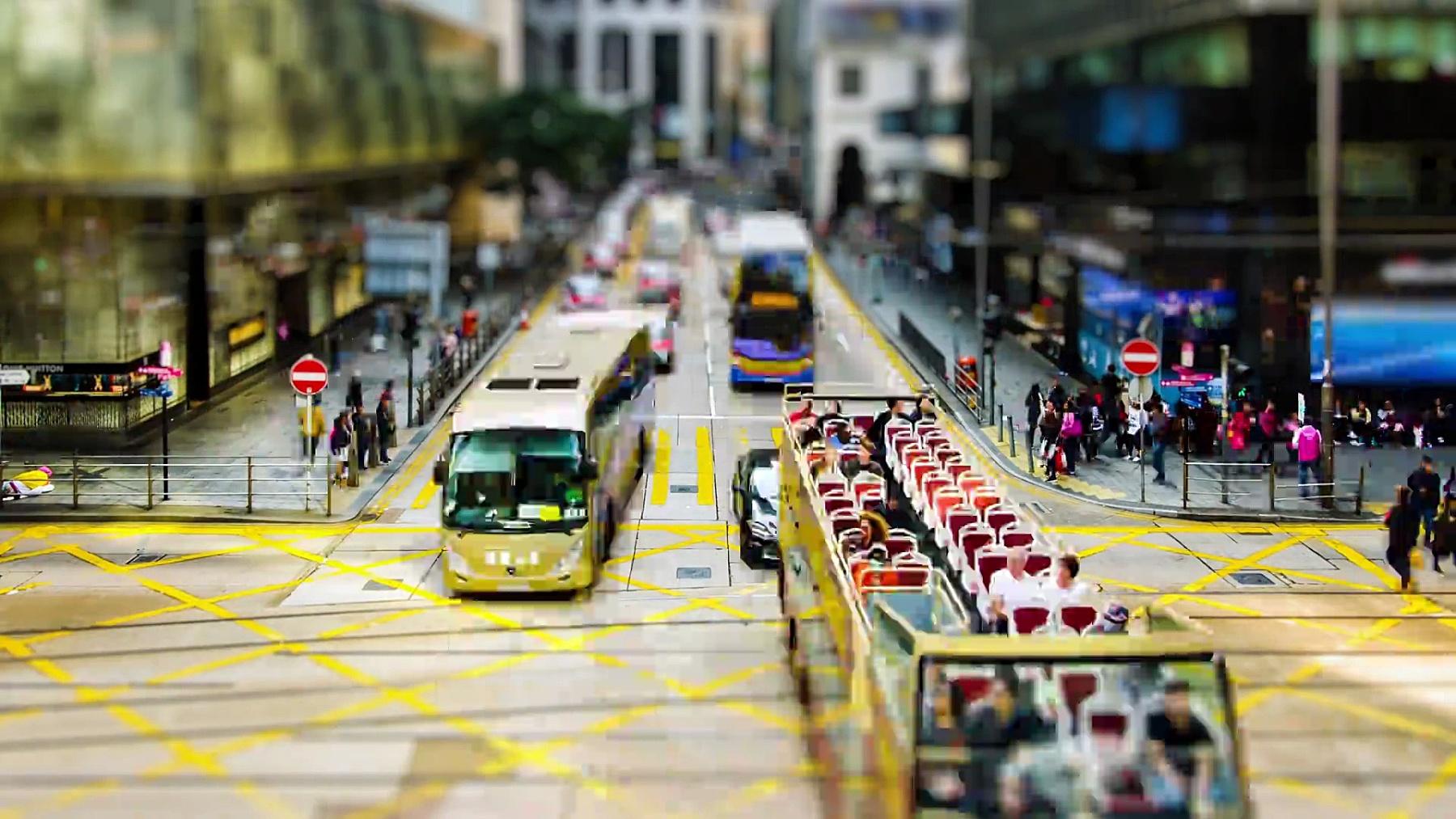 Timelapse街景铜锣湾香港市香港是亚洲地区的主要金融中心。