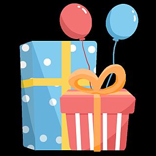 可爱手绘生日主题-礼物