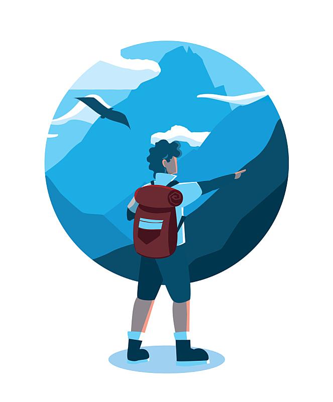 地形,山,自驾游,旅途,动物,鸟类,设备用品,休闲,训练