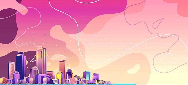 城市,抽象,矢量,商务,计划书,模板,现代,波浪,联系