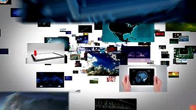 视频屏幕之旅。黑白背景。可循环。