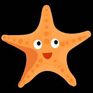 可爱手绘海洋生物及水果类-海星