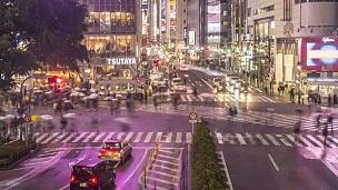涉谷道口交通-缩小-延时摄影