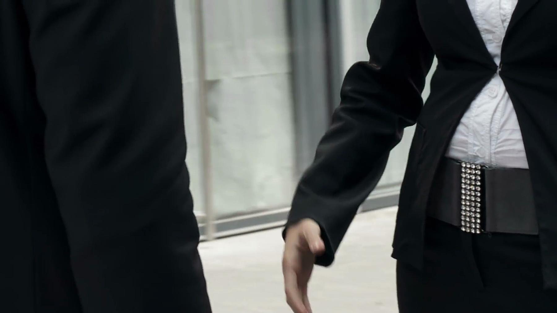 高清慢动作 商务握手