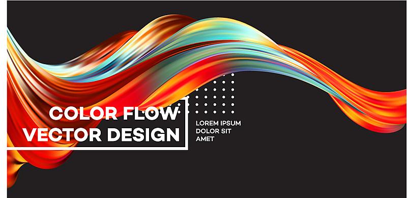 液体,形状,多色的,波形,活力,创造力,计划书,概念,流动