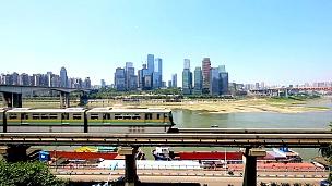 近江高架铁路与现代城市建筑