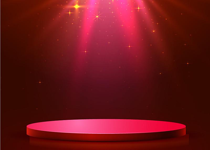 圆形,指挥台,抽象,聚光照明,舞台,商务,事件,照亮