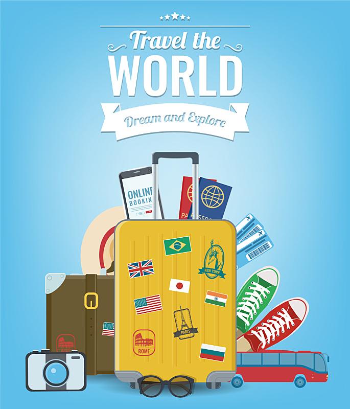 设备用品,旅行者,夏天,旅途,旅行,构图,旅游,度假,冒险,探险