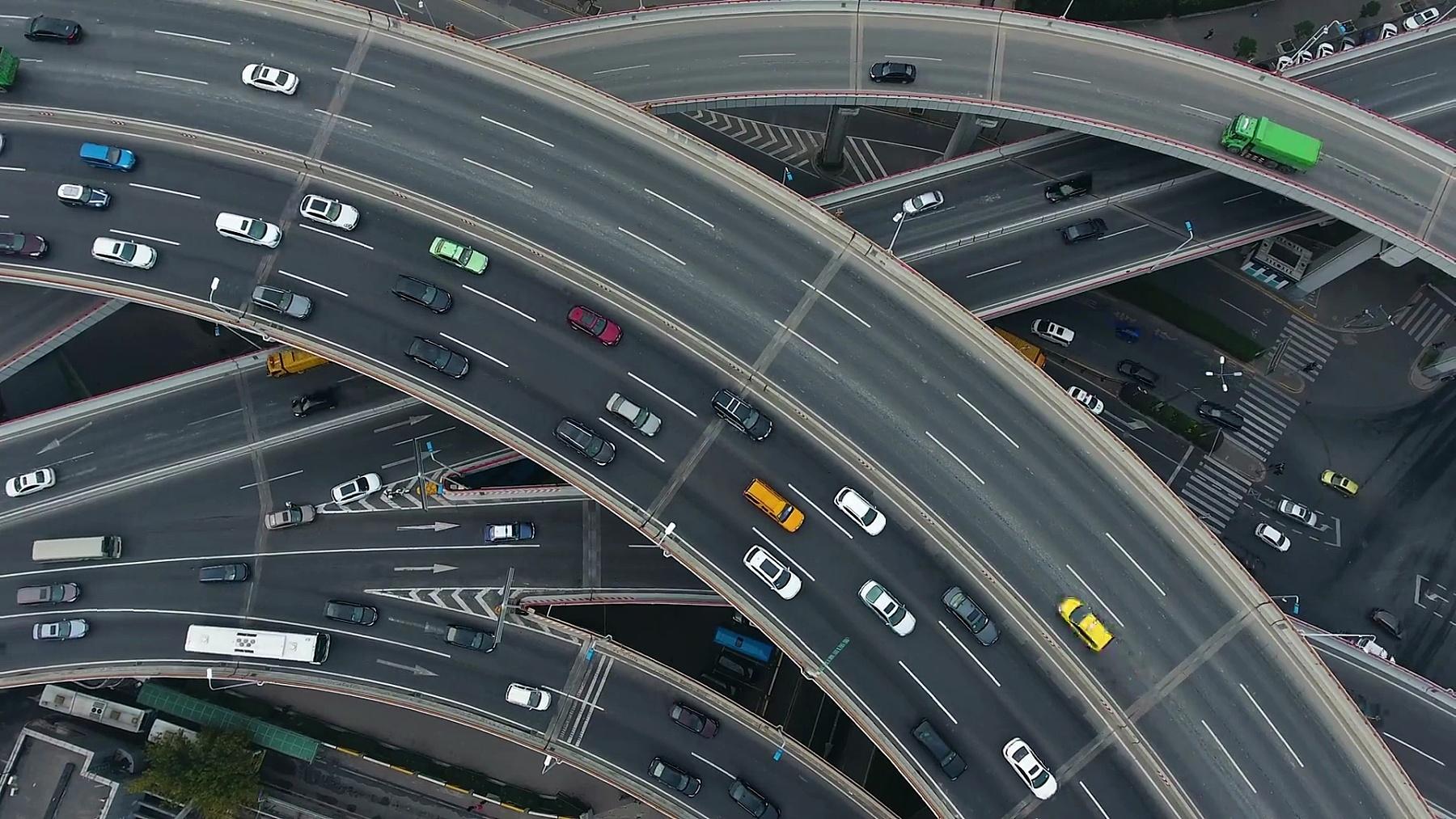 上海高架公路枢纽