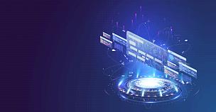 全息图,蓝色,表格,贺卡,商务,电子邮件,技术,证章,三维图形,未来