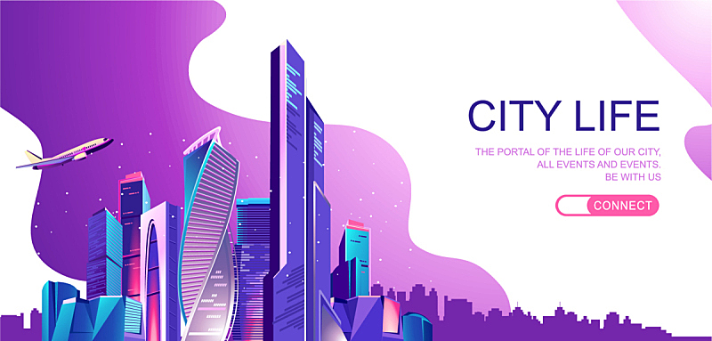 城市,概念,地形,飞机,商务,技术,巴黎地铁,模板,沟通,剪影