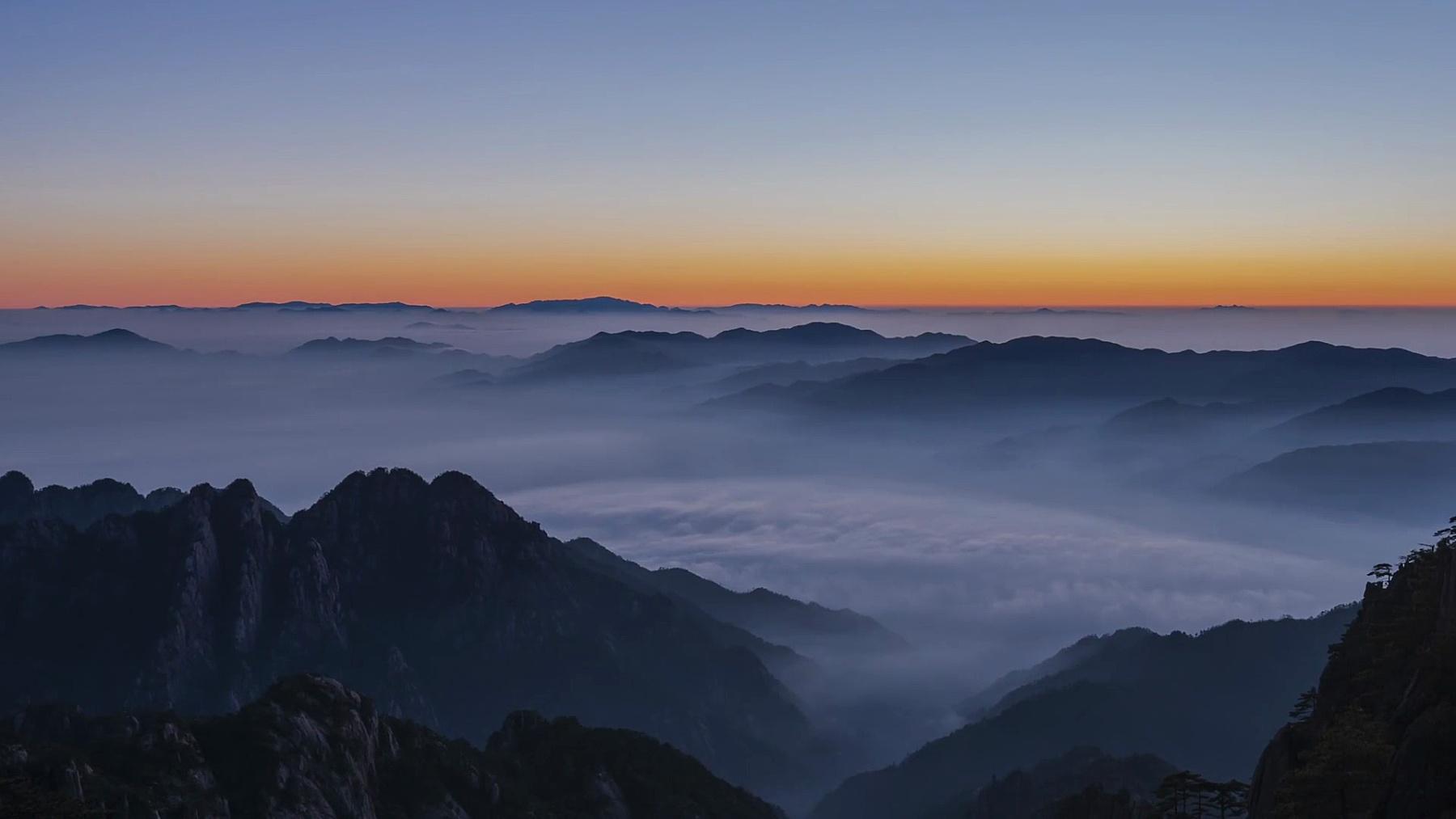 黄山明顶日出-淘金延时摄影