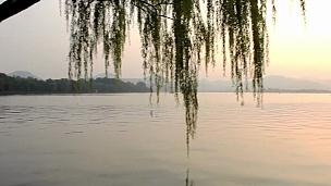 中国杭州西湖夕阳