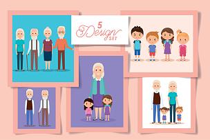 five designs grandparents with grandchildren