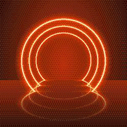 指挥台,霓虹灯,舞台,圆形,红色,抽象,夜晚,表演,点燃,发光