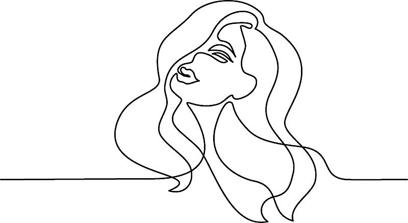 肖像,自然美,抽象,特写,青年女人,头发,线条画,品牌名称,人,女人