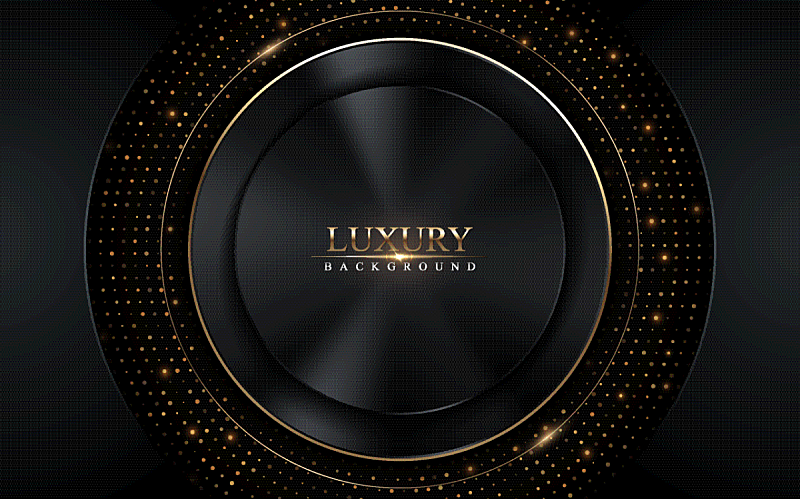 abstract dark luxury with gold glowing lines and