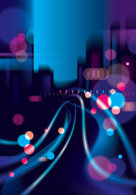 夜晚,背景虚化,城市生活,路灯,城市,抽象,全景,光,地平线,焦点