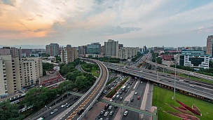 延时摄影-北京城市交通(WS HA LR Pan)