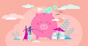 绘画插图,人,矢量,退休金,概念,公寓,小的,老年男人,拉脱维亚,家庭
