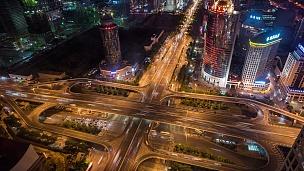 北京夜间城市交通时延鸟瞰(WS)