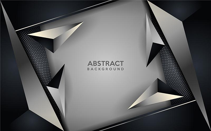 背景,现代,银,黑色,壁纸,几何学,华丽的,商务,暗色,发光