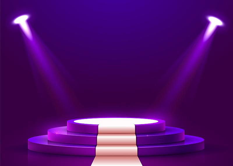 指挥台,圆形,白色,地毯,抽象,舞台,三维图形,商务,事件