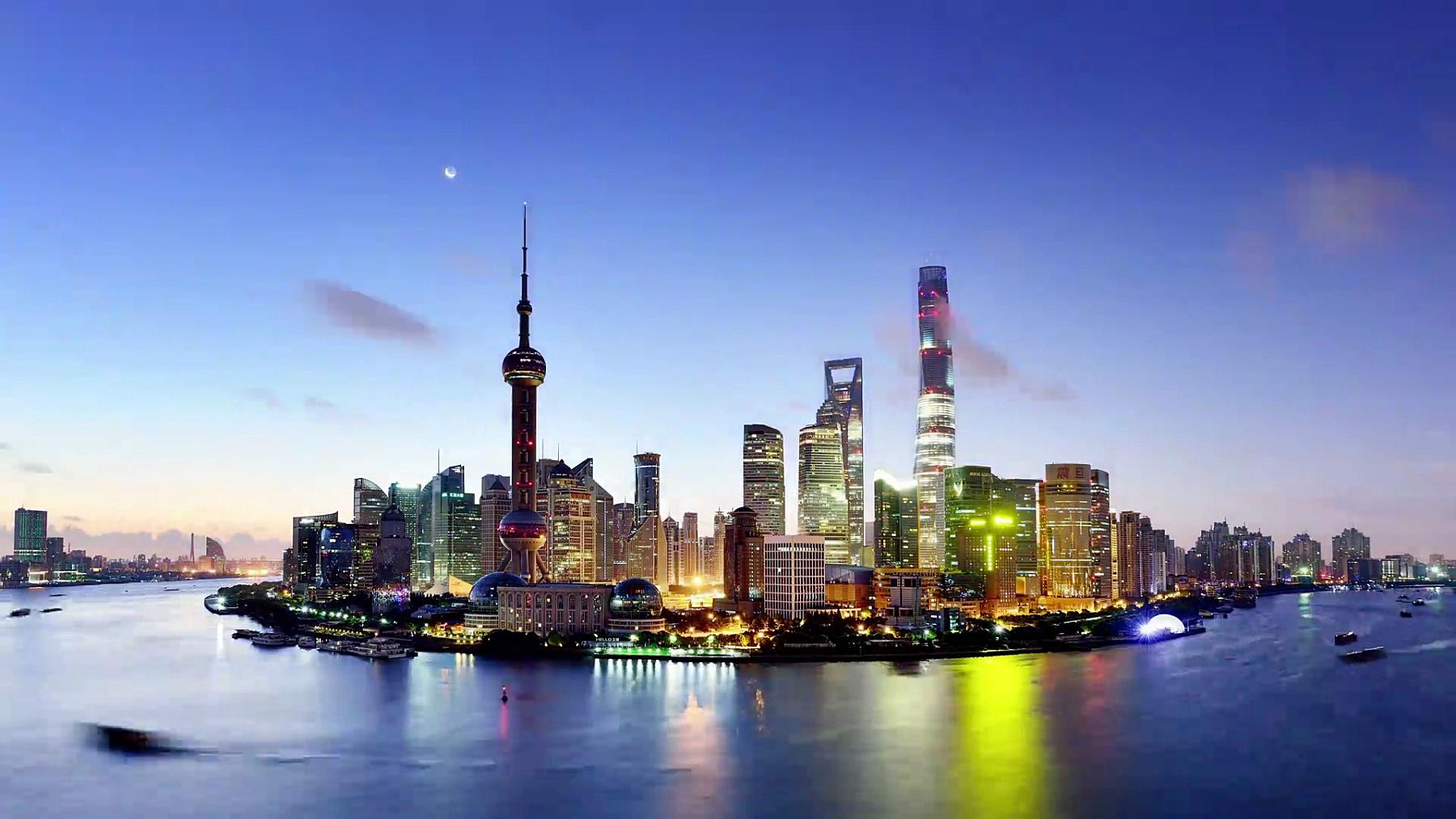 上海城市景观鸟瞰,中国上海