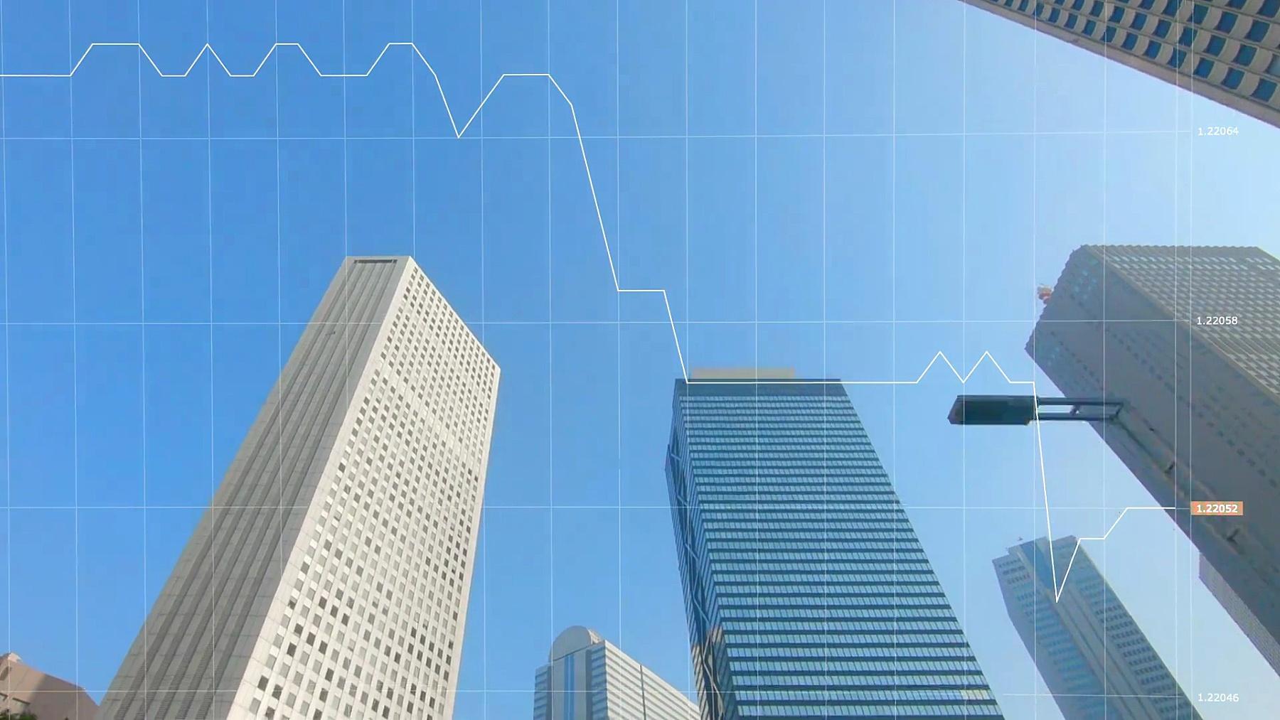 城市天际线和图表