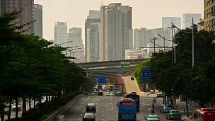 日光广州市交通街道路口大桥  timelapse China