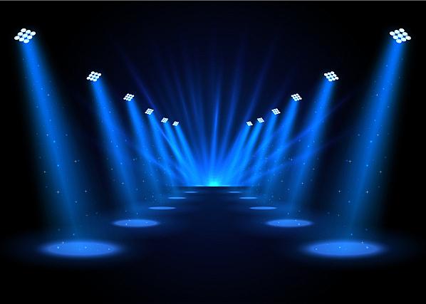 黑色,聚光灯,背景,闪亮的,图像,传统节日,体育场,矢量,舞台,发光