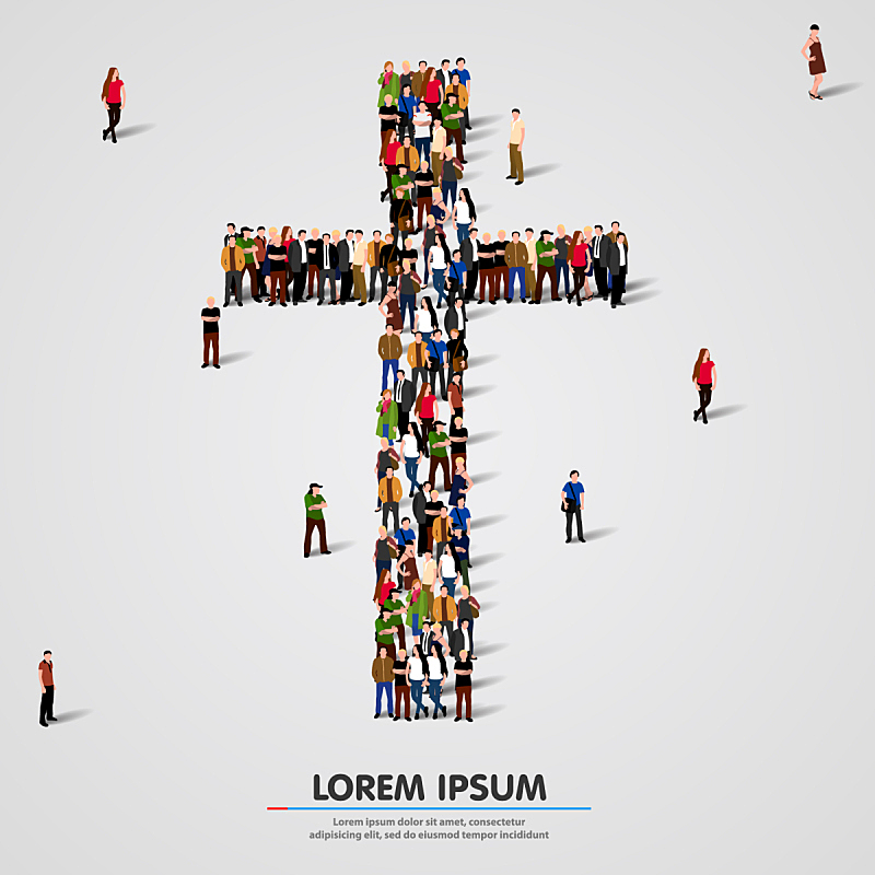 十字形,白色,人,复活节,耶稣十字架,爱,相伴,宽恕
