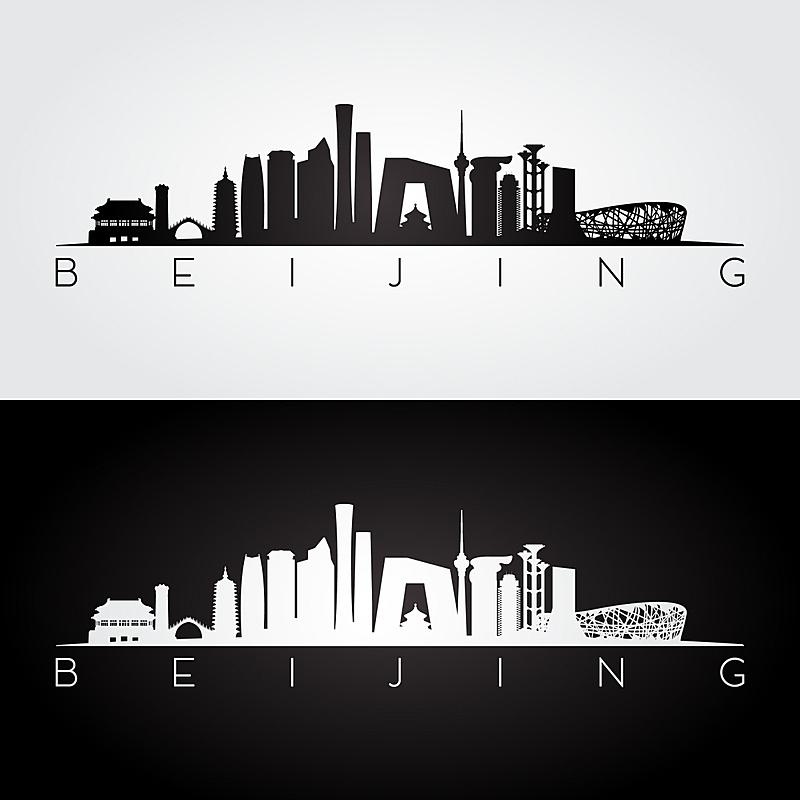 城市天际线,著名景点,建筑,城市,古老的,房屋,商务,现代,剪影
