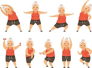 动作,早晨,老年女人,精力,体操,运动,女人,中老年人,锻炼,休闲