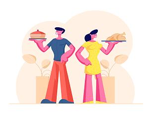 拿着,伴侣,性格,快乐,男性,女性,传统,丈夫,事件,家庭