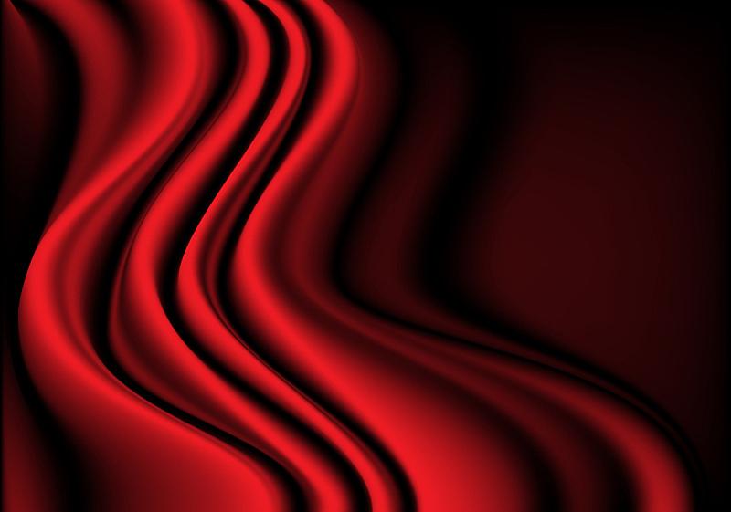 丝绸,红色,纺织品,三维图形,波形,背景,白色,黑色,天鹅绒,弯曲
