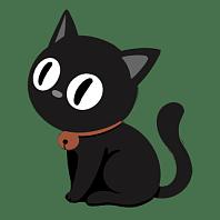 卡通-万圣节主题节日贴纸-黑猫