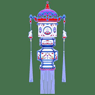 中国风-手绘中秋节花灯节日元素8