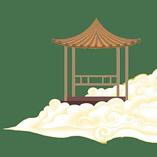 手绘-中国风元素-亭子