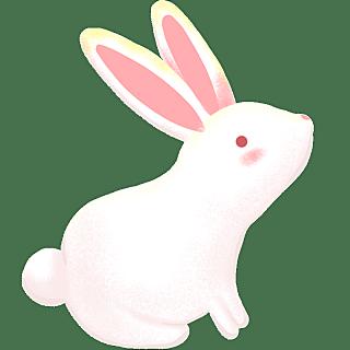 手绘-中秋节氛围元素3-玉兔