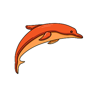 海洋生物元素主题素材-海豚