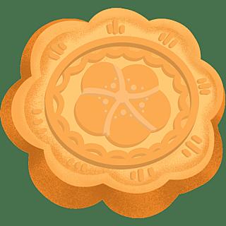 手绘-中秋节氛围元素3-月饼