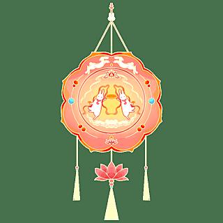 中国风-手绘中秋节花灯节日元素10