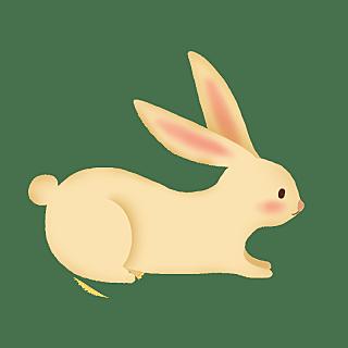 手绘-中国风元素-兔子