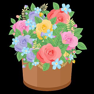 春天氛围装饰贴纸-花